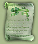 St Patrick's Day Scroll